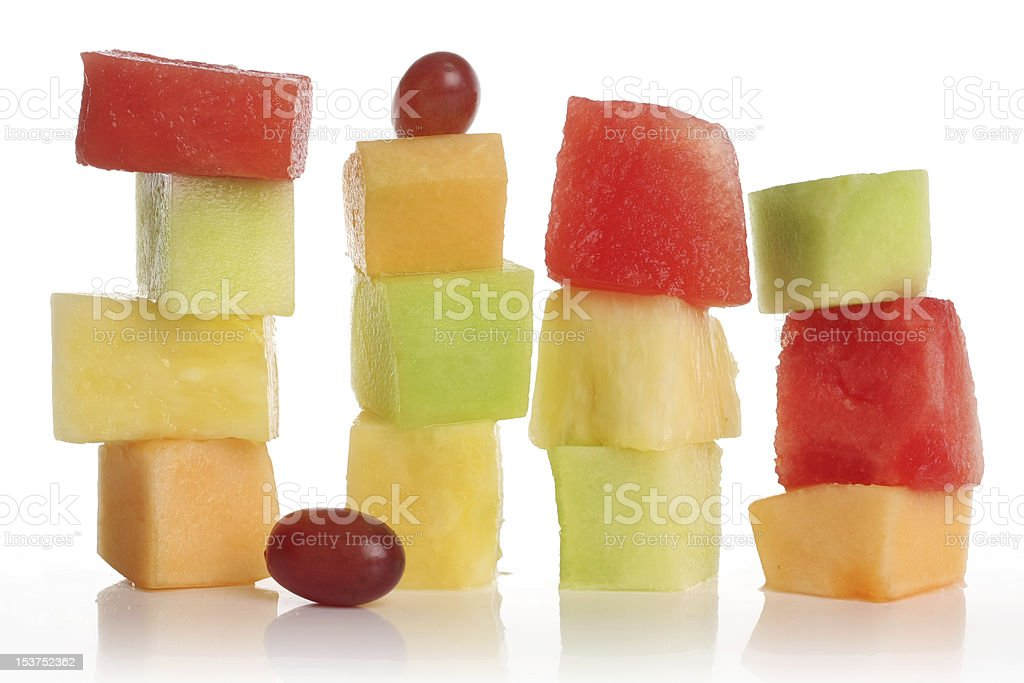 Piles of sliced different fruits royalty-free stock photo
