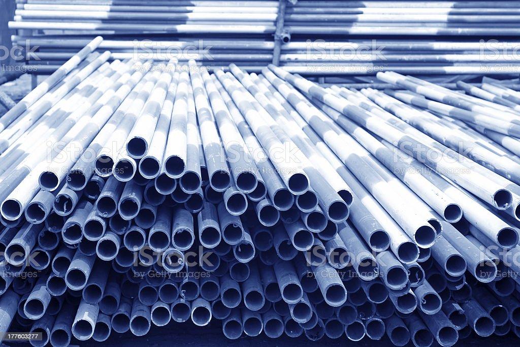 piles of steel pipeline royalty-free stock photo