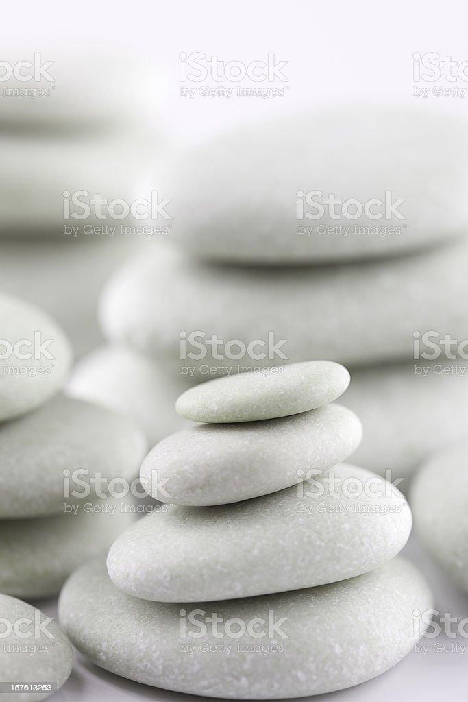 Piles of white stones royalty-free stock photo