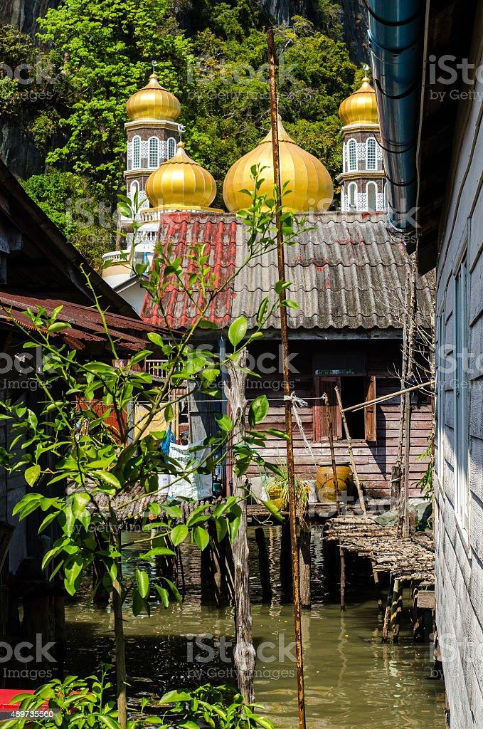 Pilework Mosque stock photo