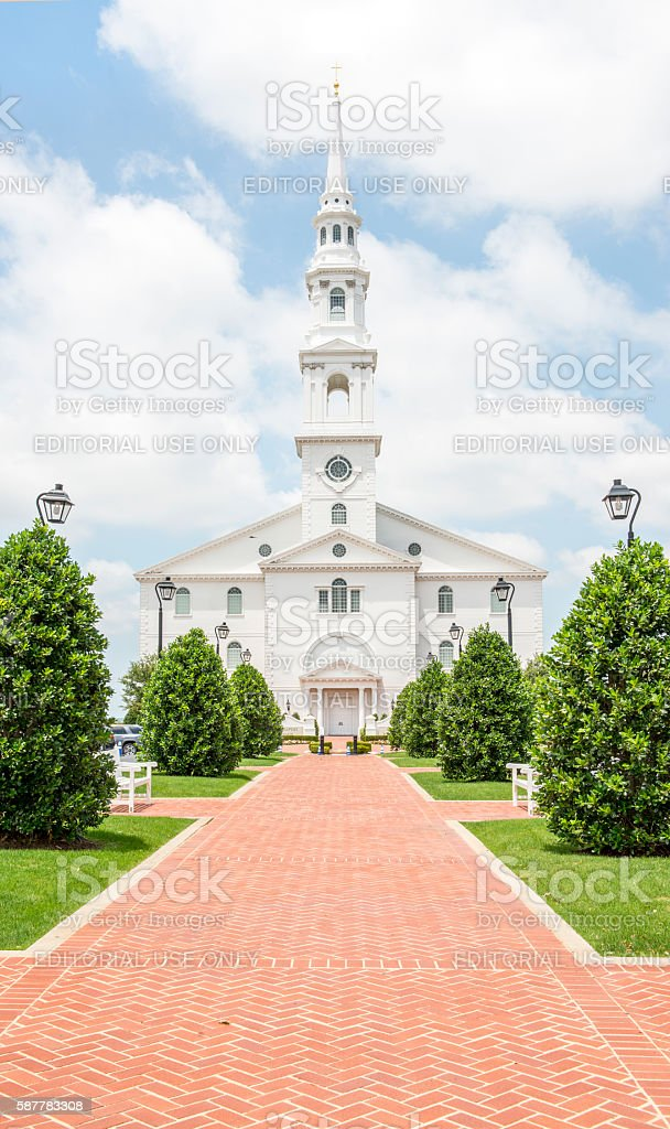 Pilgrim Chapel Dallas Baptist University stock photo
