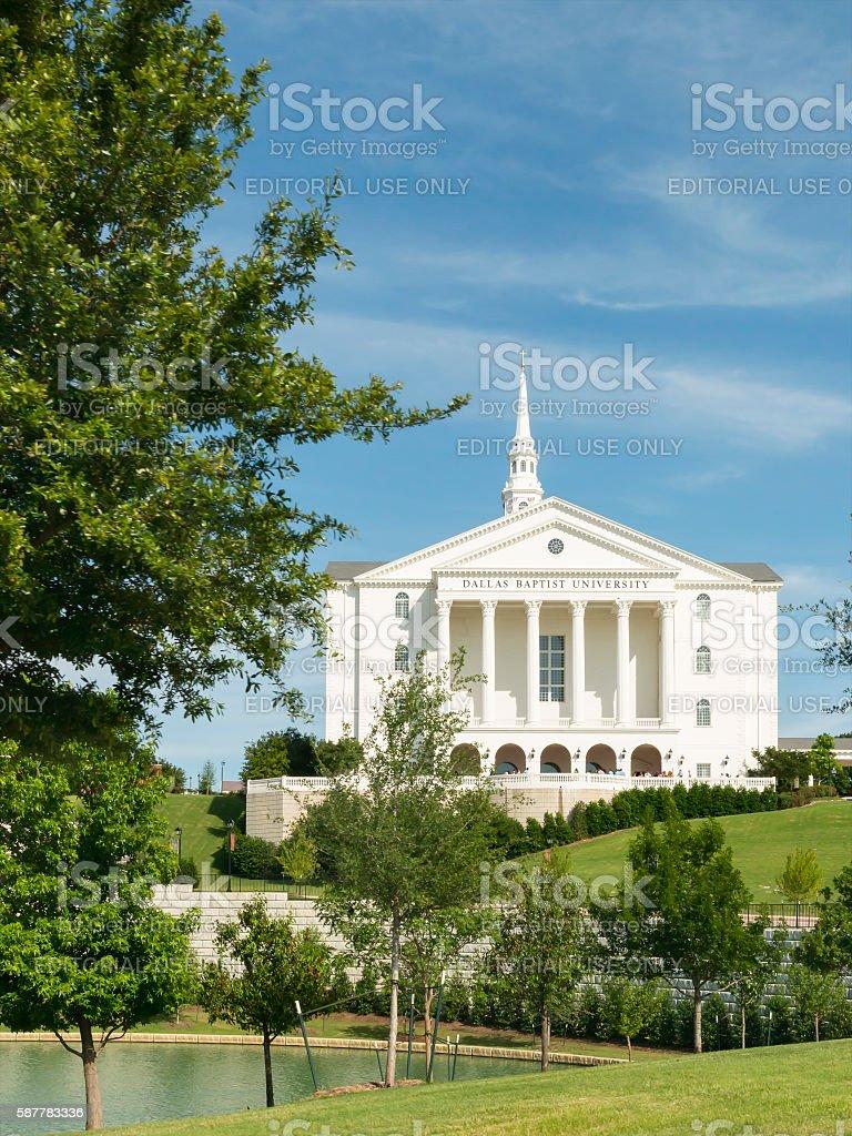 Pilgrim Chapel Dallas Baptist University stock photo