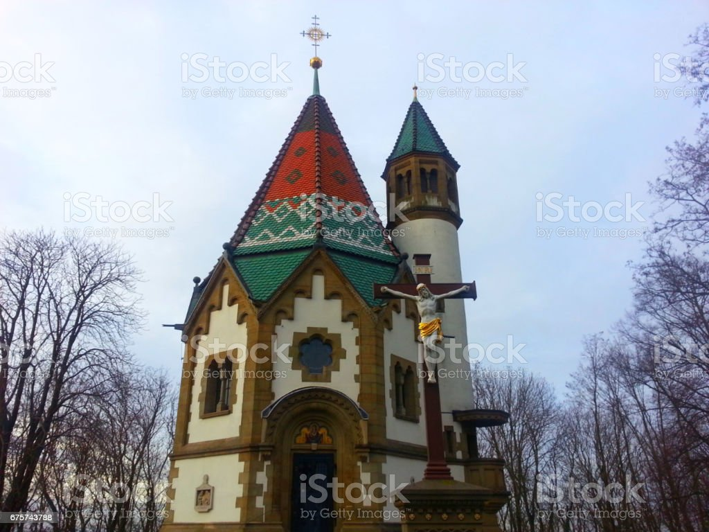 Pilgrim chapel in Malsch, Germany stock photo