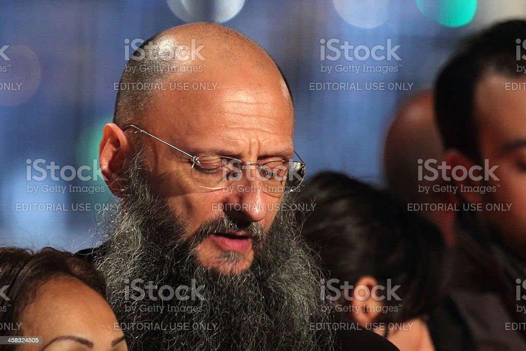 Pilgrim during Stations of the Cross chaired by Pope Francis royalty-free stock photo
