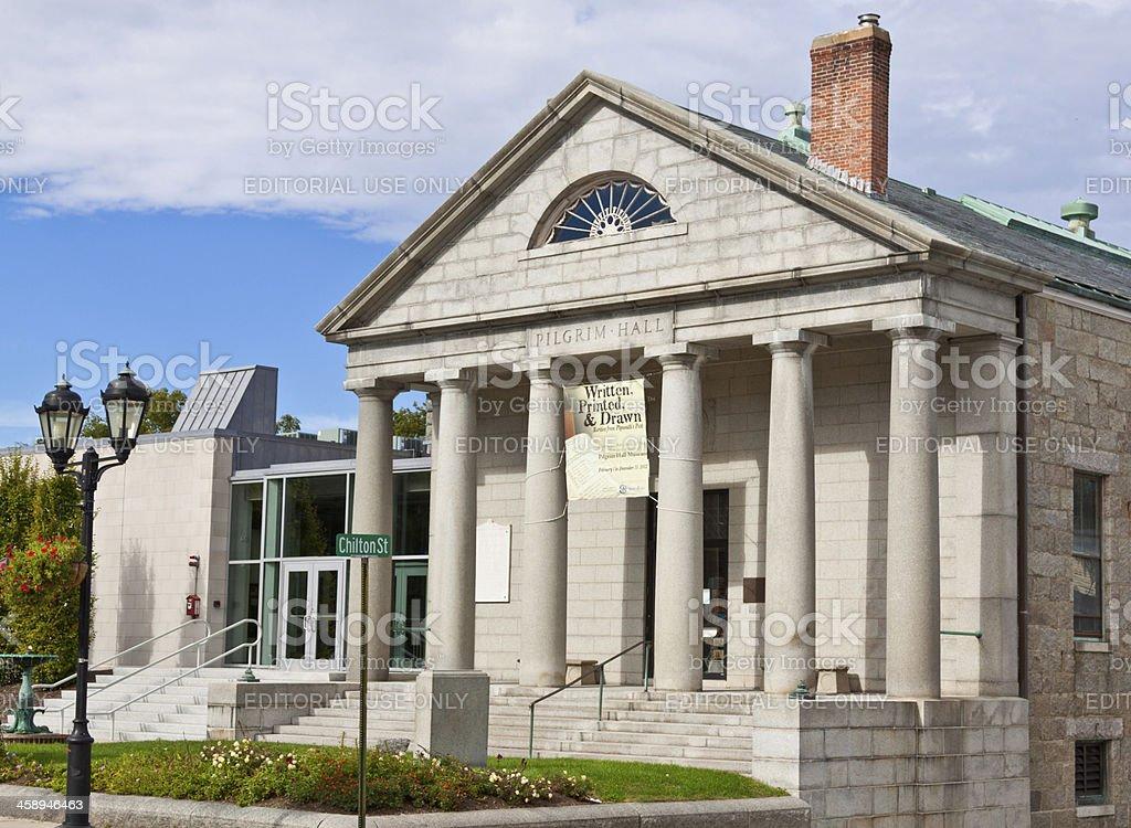 Pilgrim Hall Museum royalty-free stock photo