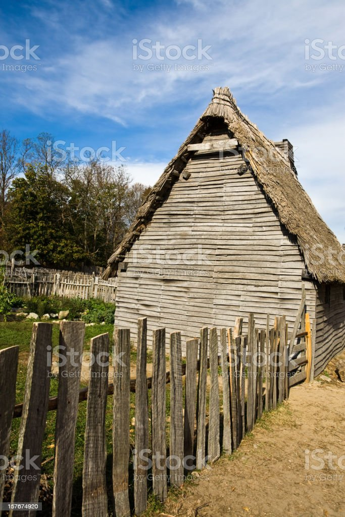 Pilgrim home stock photo