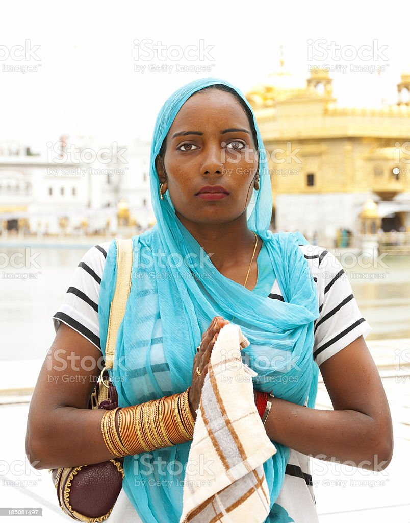 Pilgrim in Golden Temple Amritsar, India royalty-free stock photo