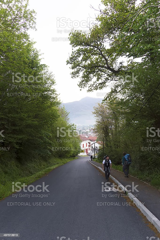 Pilgrim in Roncevaux, France royalty-free stock photo