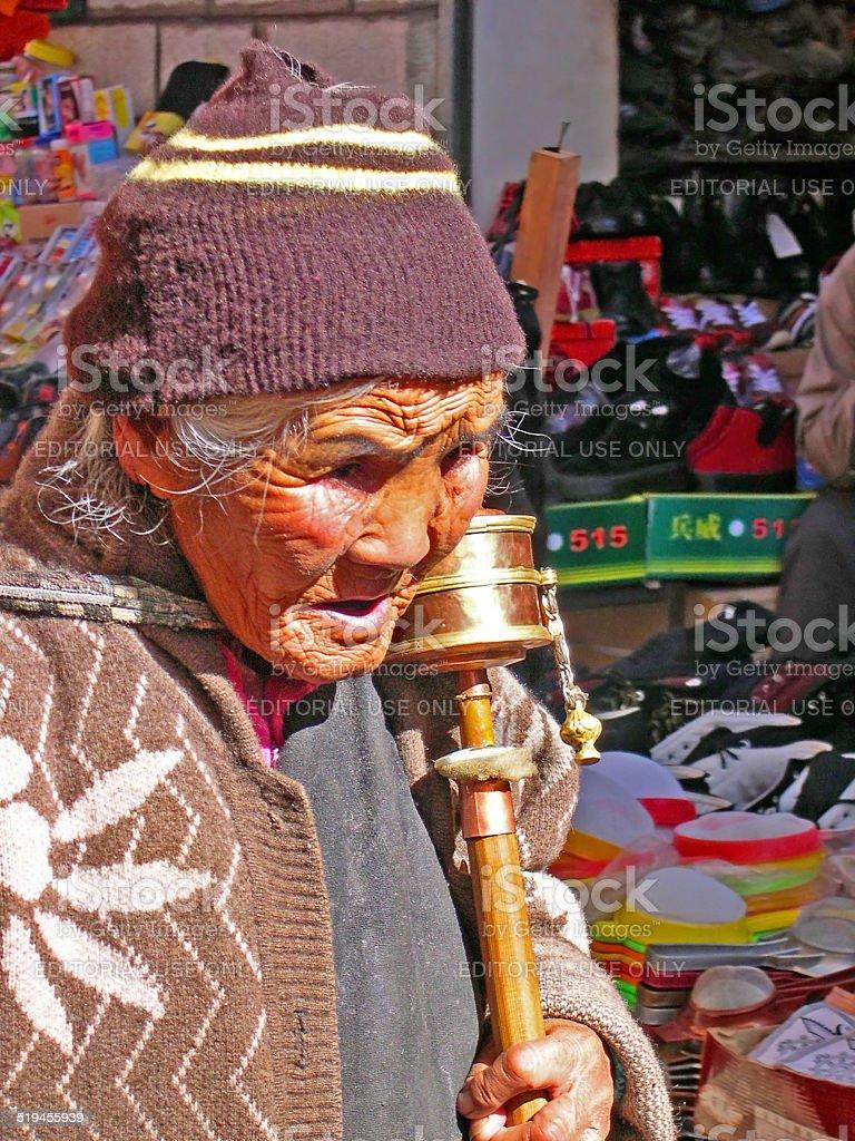 Pilgrim lady. stock photo
