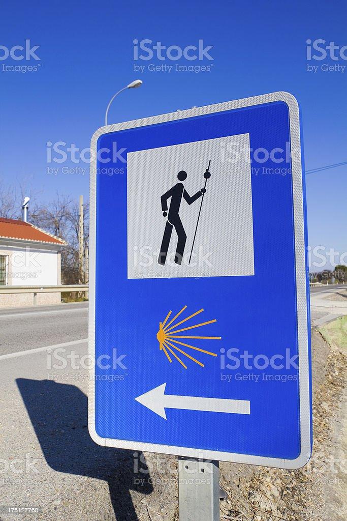 Pilgrim sign stock photo