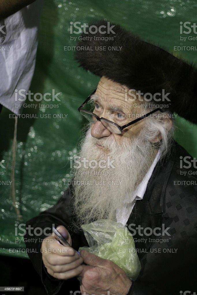 Pilgrim with beard royalty-free stock photo