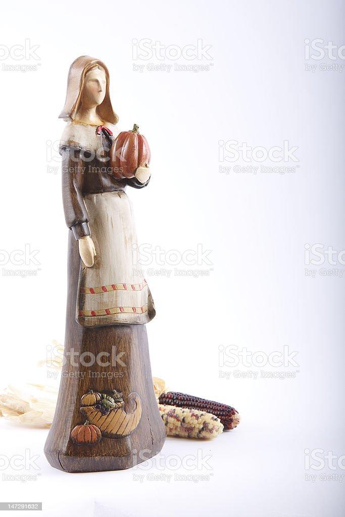 Pilgrim Woman royalty-free stock photo