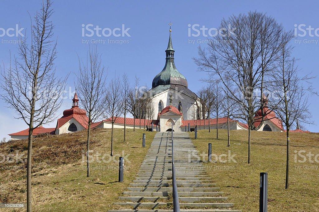 Pilgrimage church of St. John Nepomuk,Czech republic stock photo