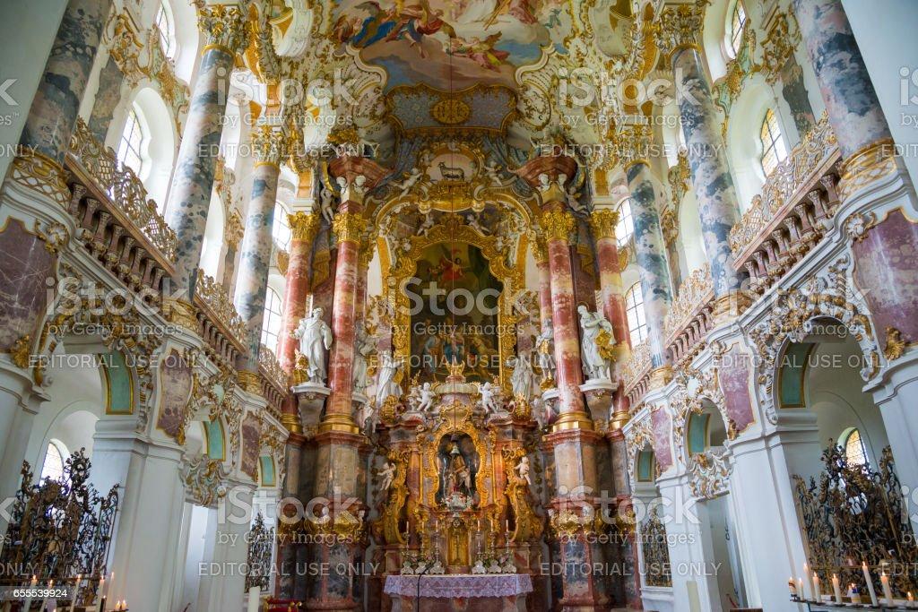 Pilgrimage Church of Wies. Interior view. Bavaria, Germany. stock photo