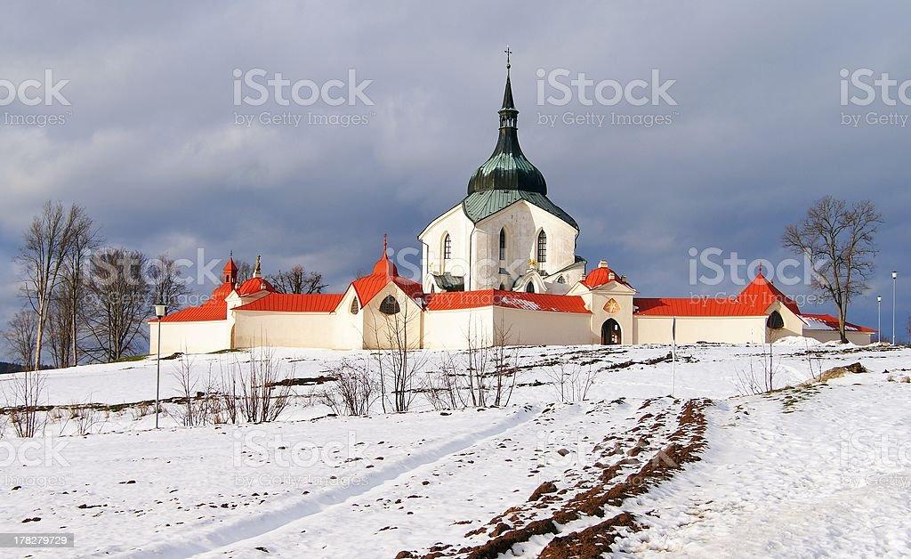 Église de pèlerinage zelena hora photo libre de droits