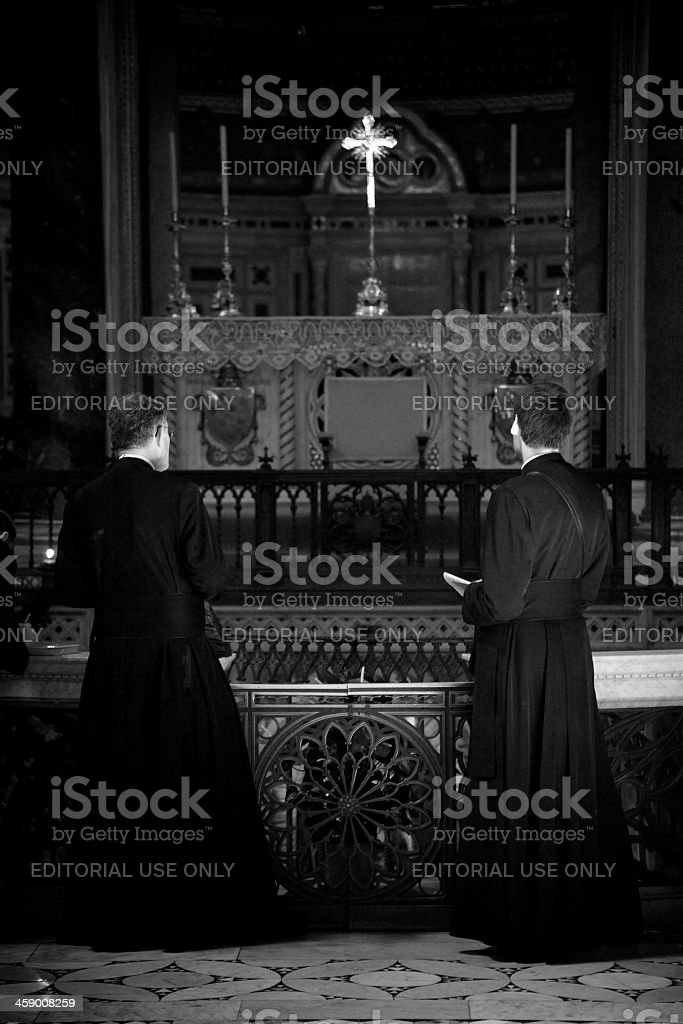Pilgrimage in Rome. royalty-free stock photo