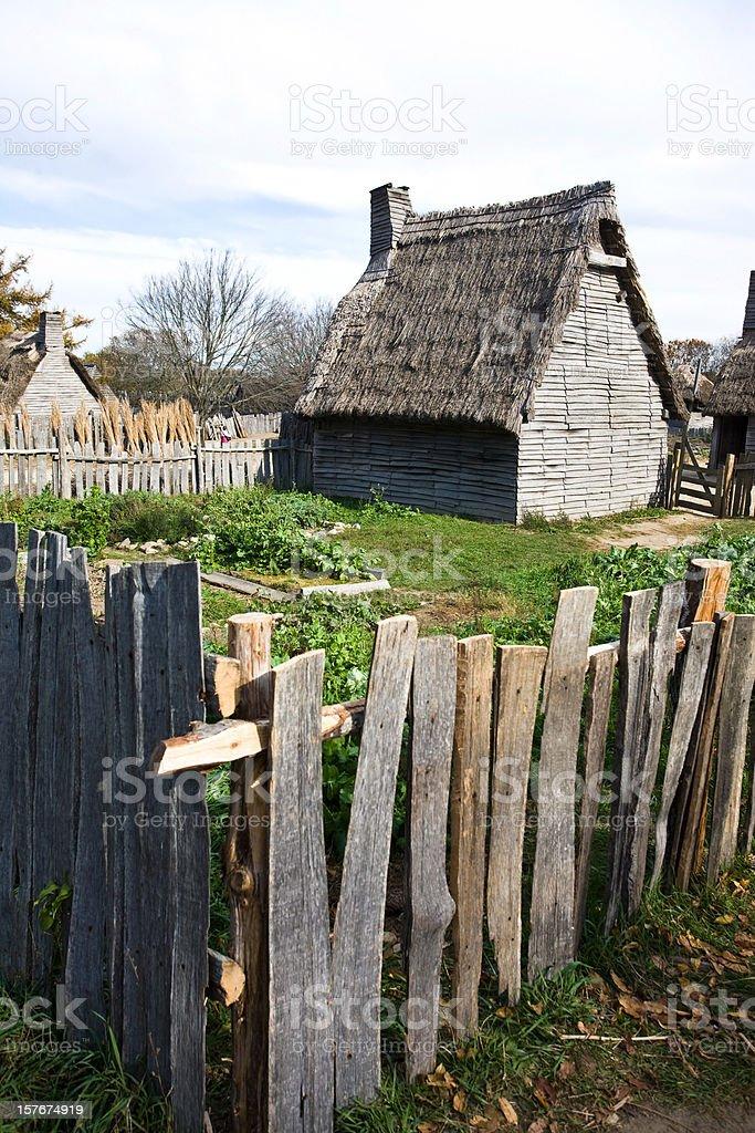 Pilgrim's Backyard stock photo