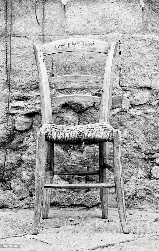Pilgrim's Chair stock photo