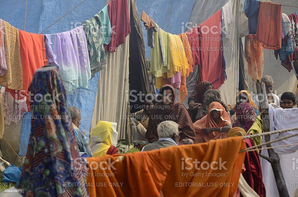 Pilgrims  in Allahabad royalty-free stock photo
