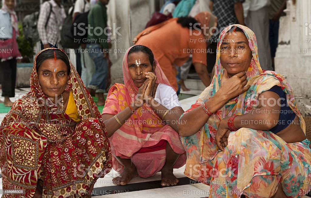 Pilgrims in Golden Temple Amritsar, India royalty-free stock photo