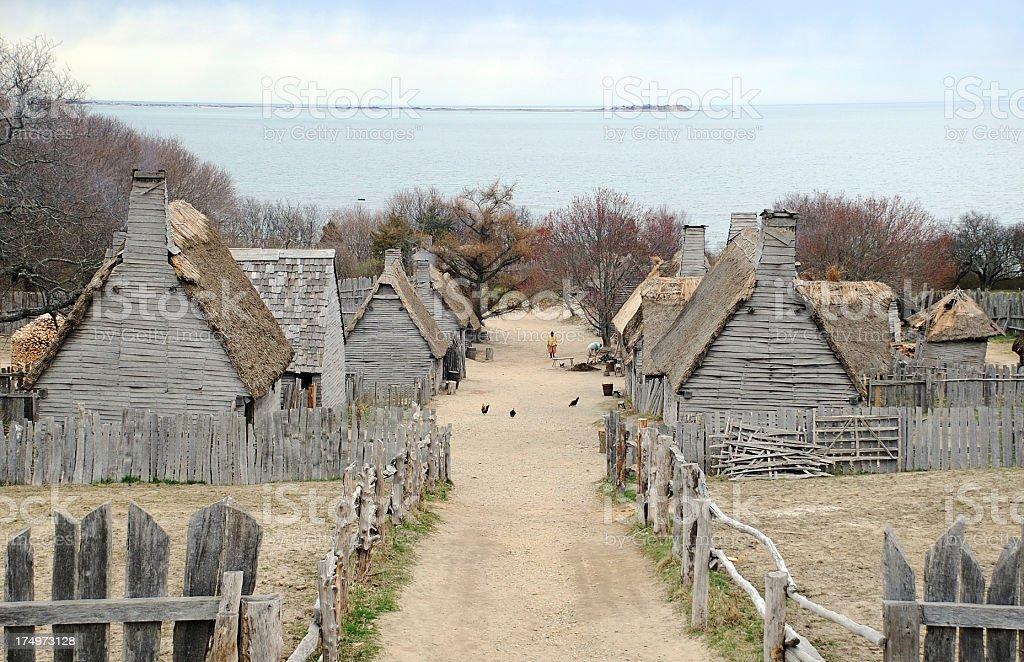 Pilgrims Settlement stock photo