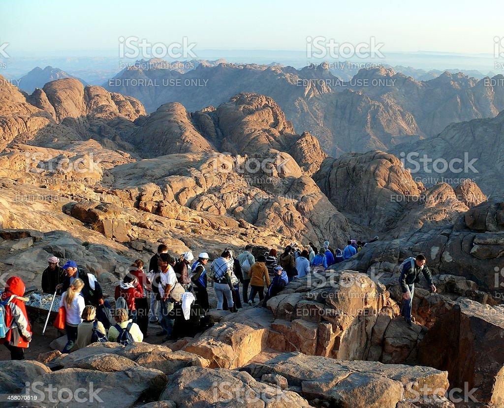 Pilger weg von der heiligen Berg Sinai. Ägypten Lizenzfreies stock-foto