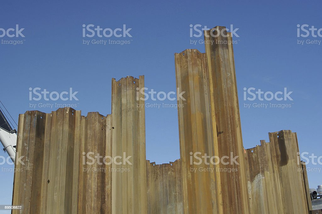 Pilings During New Construction royalty-free stock photo
