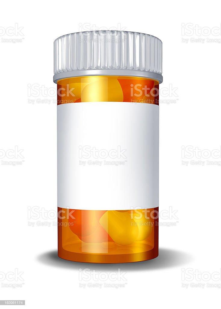 pill bottle blank label royalty-free stock photo