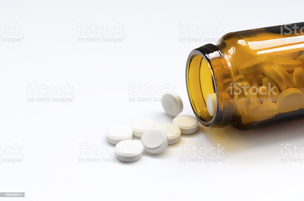 Pill bottle royalty-free stock photo
