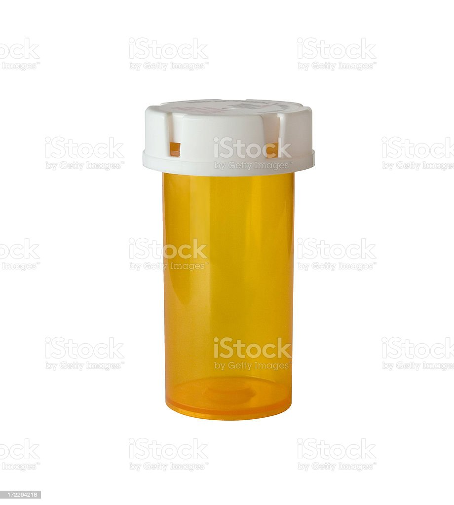 Pill Bottle with no label royalty-free stock photo