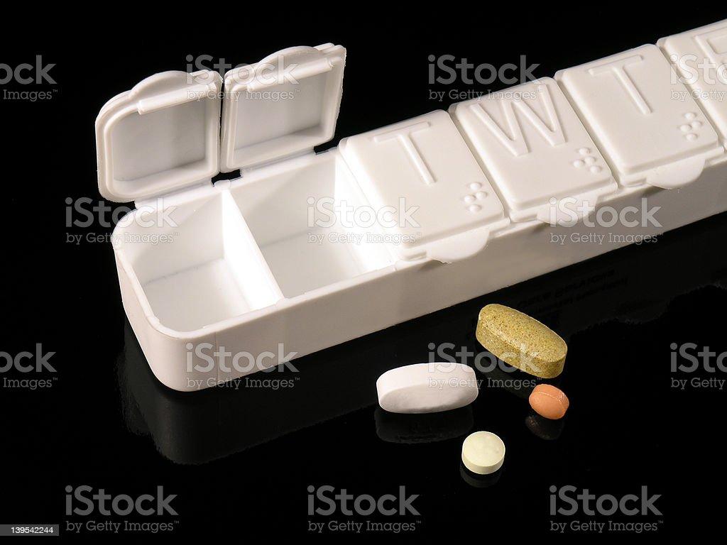 Pill Box and Pills royalty-free stock photo