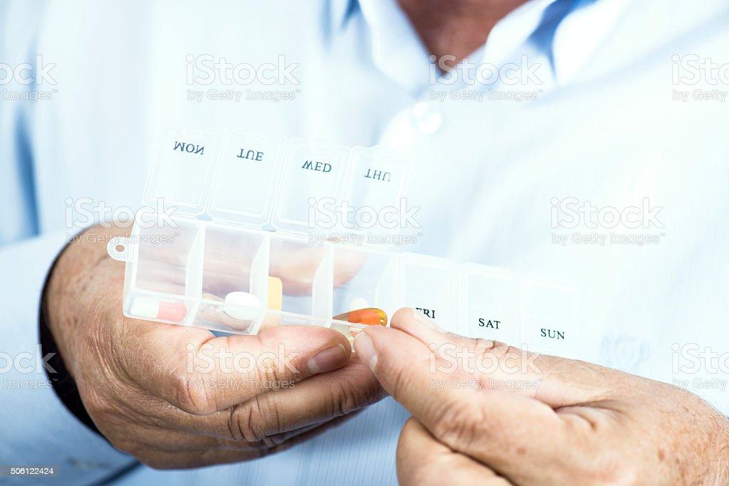 Pill Box stock photo