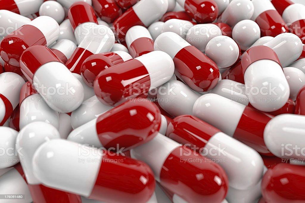 Pill capsules stock photo