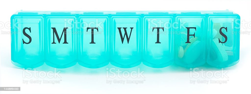 Pill Case stock photo