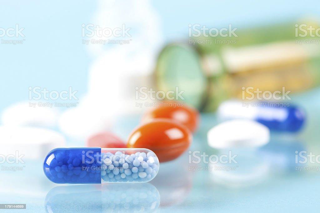 Pill close up royalty-free stock photo