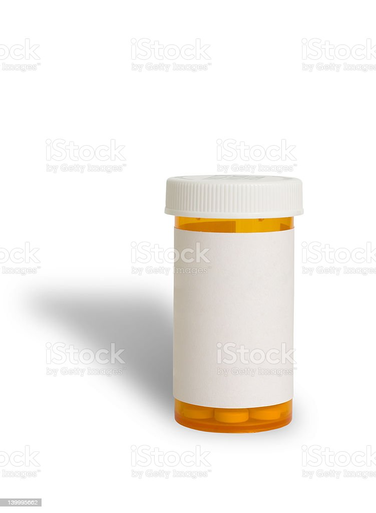 Pill Container stock photo