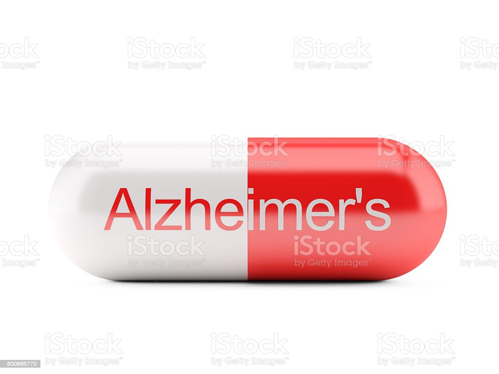 Pill for Alzheimer's stock photo