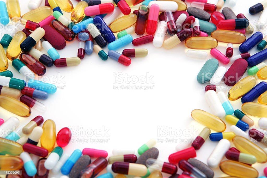 Pill Frame royalty-free stock photo