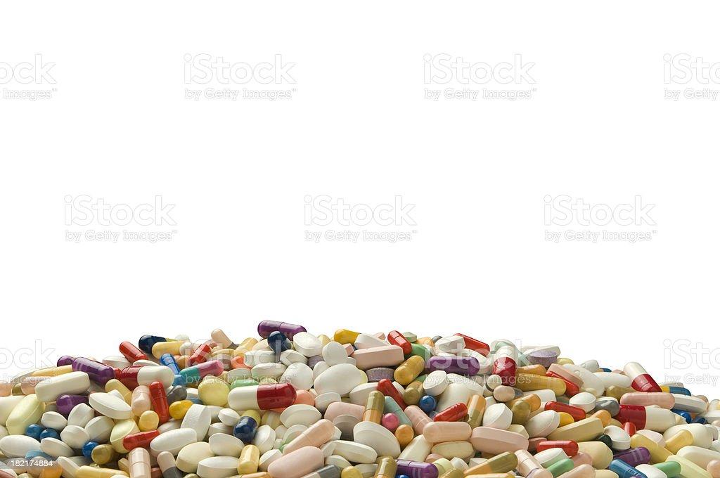 Pill Mountain stock photo