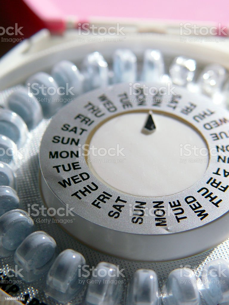 A pill organiser with days of the week royalty-free stock photo