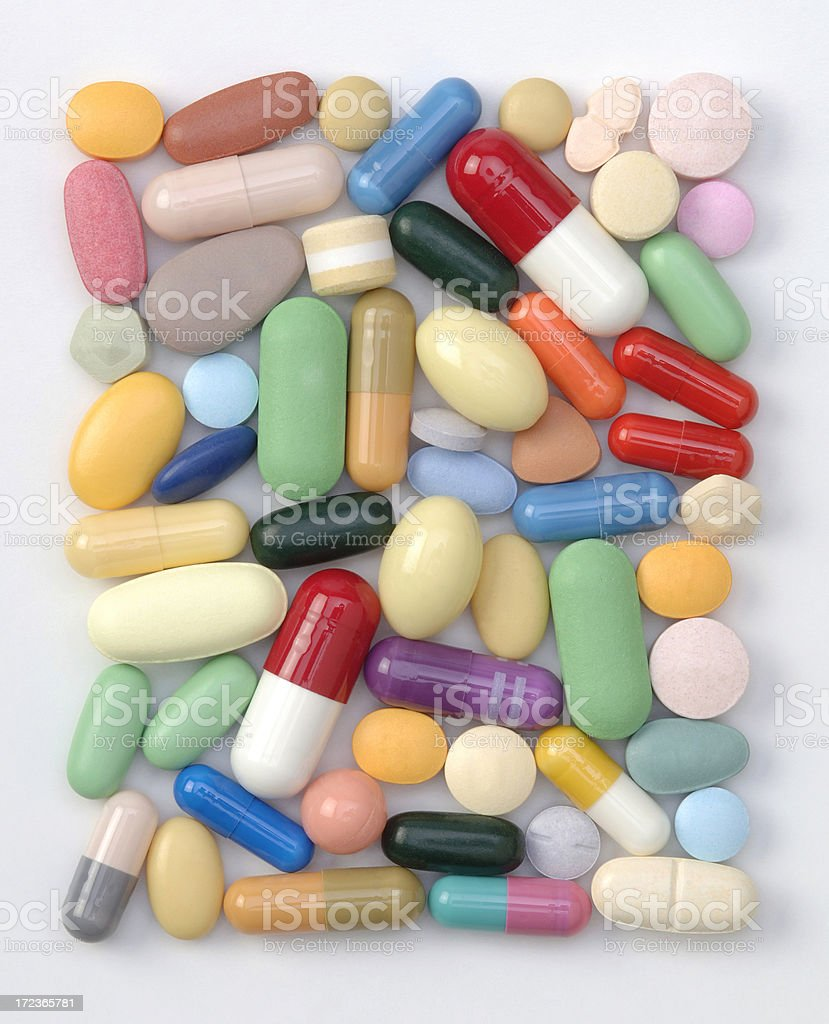 Pill Rectangle stock photo