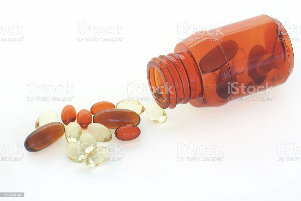 Pill spill royalty-free stock photo