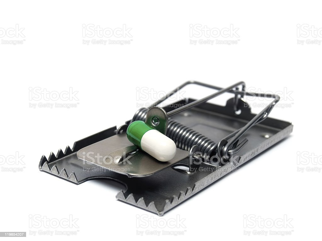 Pill trap stock photo