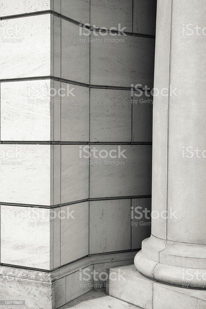 Pillar and Wall royalty-free stock photo