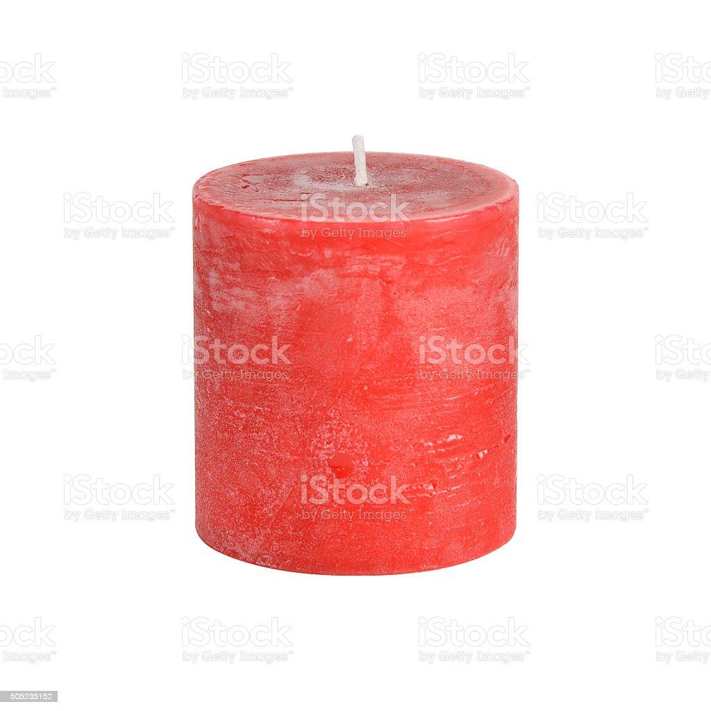 Pillar candle stock photo