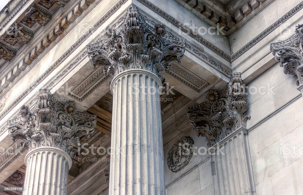 Pillar crown detail stock photo