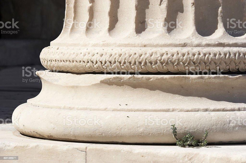 Pillar in Acropolis. Athens. stock photo