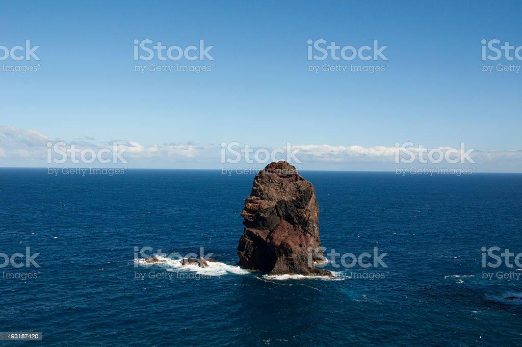 Pillar in the Atlantic Ocean stock photo