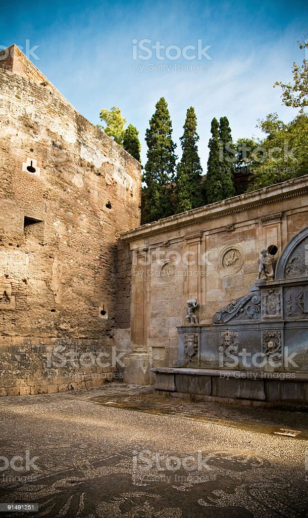 Pillar of Charles V royalty-free stock photo