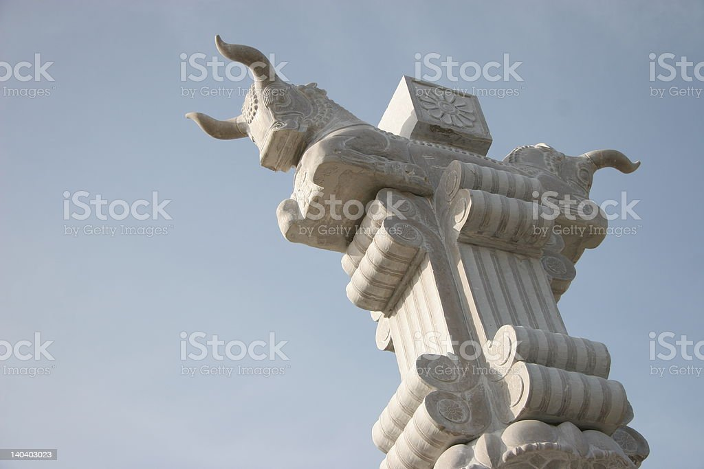Pillar of Persepolis stock photo